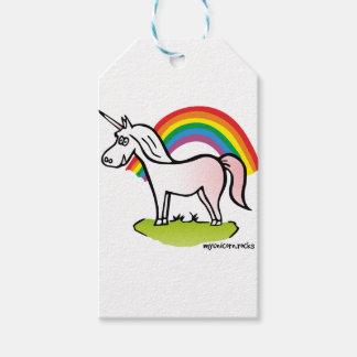 Unicorn and Rainbow - Einhorn und Regenbogen Geschenkanhänger