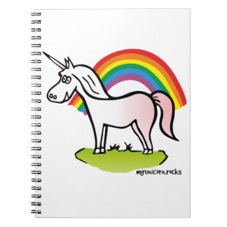 Unicorn and Rainbow - Einhorn und Regenbogen Notizbücher
