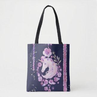 Unicorn-BlumenTaschen-Tasche