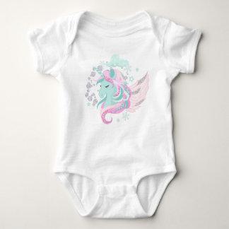 Unicorn-Imitat-Glitzer-Baby-Jersey-Bodysuit Baby Strampler