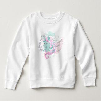 Unicorn-Imitat-Glitzer-Kleinkind-Fleece-Sweatshirt Sweatshirt
