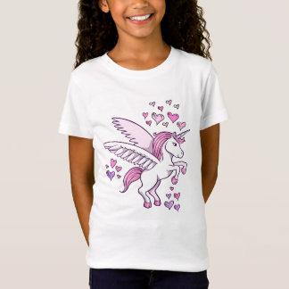 Unicorn-Pegasus-Herz-T - Shirt