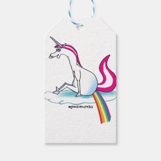 Unicorn pooping Rainbow - Einhorn pubst Regenbogen Geschenkanhänger