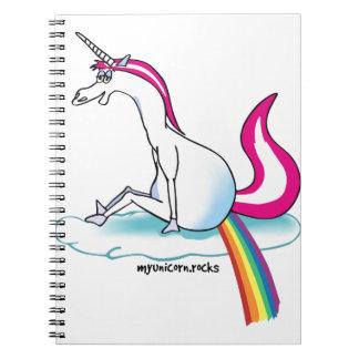 Unicorn pooping Rainbow - Einhorn pubst Regenbogen Notiz Buch