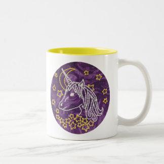 Unicorn-Stickerei-Tasse - Unicorn-Tasse Zweifarbige Tasse