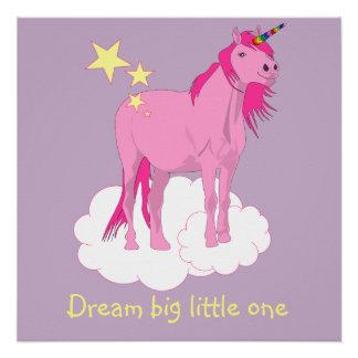 Unicorngrafik für das Kinderzimmer des Babys Poster