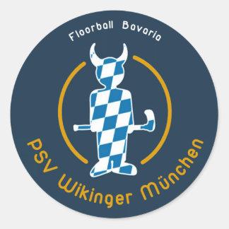 Unihockey PSV Wikinger München Floorball Runder Aufkleber