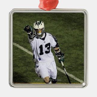 UNIONDALE, NY - 16. JUNI:  Stephen Berger #13 Quadratisches Silberfarbenes Ornament