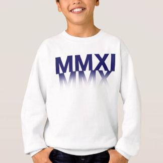Unisexkinderneues Jahr, römische Ziffern Sweatshirt