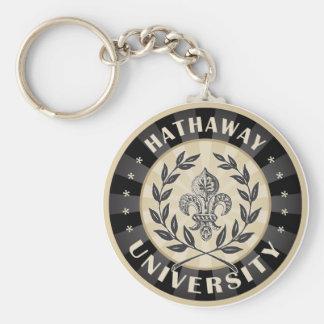 UniversitätsHathaway Schwarzes Schlüsselanhänger