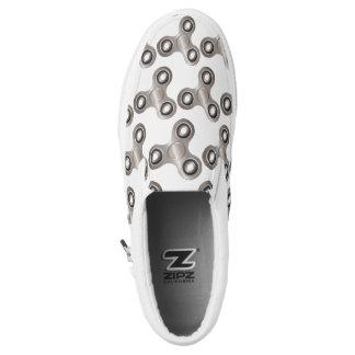 Unruhe-Spinner-silbernes Grau-Beleg auf Turnschuh Slip-On Sneaker