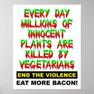 Unschuldige Pflanzen-lustiges Plakat