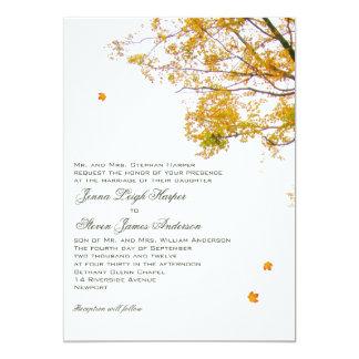 Unser Baum in den Fall-Eltern, die Hochzeit 12,7 X 17,8 Cm Einladungskarte