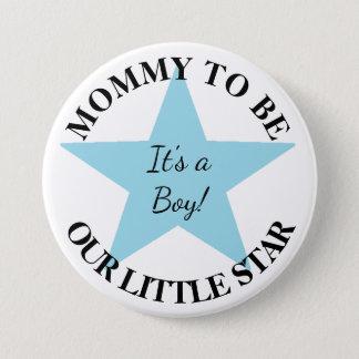 Unser kleiner Stern, sein ein Junge, Runder Button 7,6 Cm