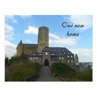 Unser neues Zuhause - wir haben Schlosskarten Postkarte