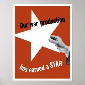 Unsere Kriegs-Produktion hat einen Stern erworben Poster