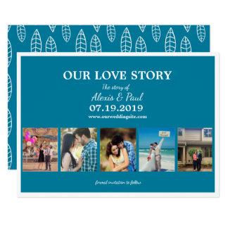 Unsere Liebe-Geschichten-kundenspezifische 12,7 X 17,8 Cm Einladungskarte