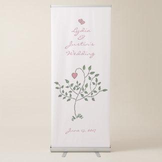 Unsere Liebe ist tief verwurzelte Hochzeit Ausziehbarer Banner