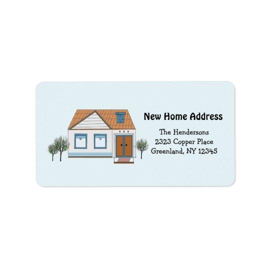 Unsere stilvolles Zuhause-neue Adresse Adressetikett