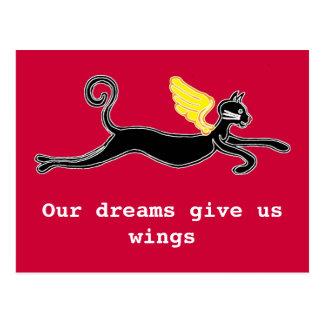 Unsere Träume geben uns Flügel Postkarte