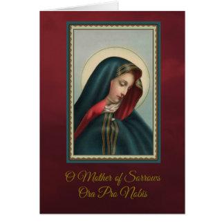 Unsere traurige Mutter Massen-anbietenw/prayer Karte