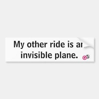 Unsichtbarer Flugzeug-Autoaufkleber Autoaufkleber