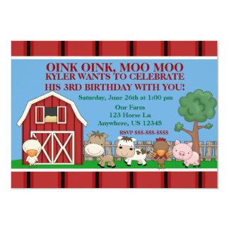 Unten auf der Bauernhof-Kindergeburtstag-Einladung 12,7 X 17,8 Cm Einladungskarte