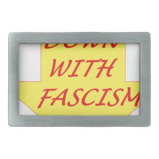 Unten mit Faschismus Rechteckige Gürtelschnallen