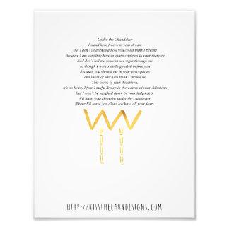 Unter dem Leuchter - Poesie 8,5 x 11 bedruckbar Fotodruck