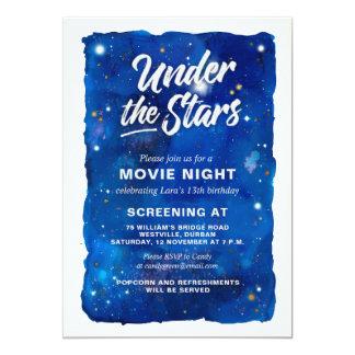 Unter der Stern-Film-Nachteinladung Karte