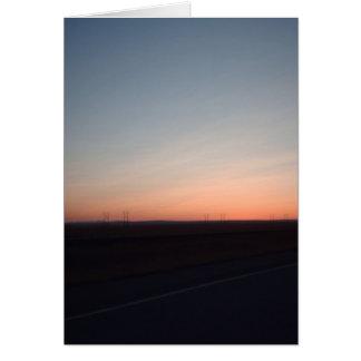 Untergehende Sonne notecard Karte