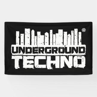 Untergrund Techno - Fahne Banner