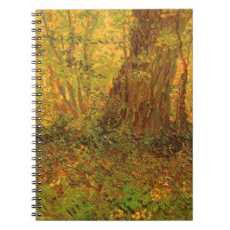 Unterholz durch Vincent van Gogh, Vintage feine Notizblock