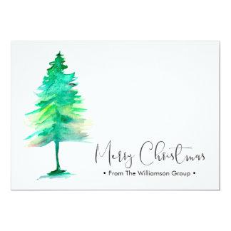 Unternehmensweihnachten, Aquarell-pinetree, Karte