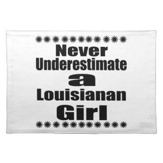 Unterschätzen Sie nie Louisianan Freundin Tischset