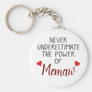 Unterschätzen Sie nie Memaw personalisiertes Schlüsselanhänger