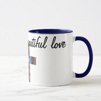 unterschiedliche und schöne Tasse der Liebe