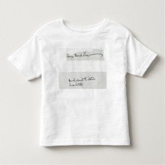 Unterschrift von George Bernard Shaw Kleinkinder T-shirt
