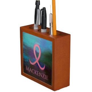 Unterstützendes Brustkrebs-Band des Büro-| mutiges Stifthalter