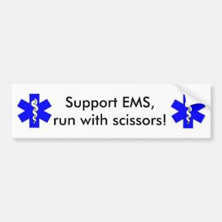 Unterstützung EMS Autoaufkleber
