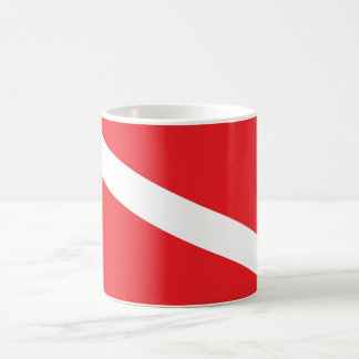 Unterwasseratemgerät-Taucher-Tauchen-Flaggen-Tasse Tasse