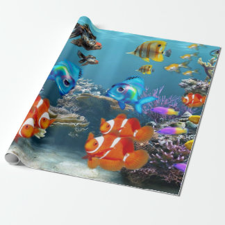 Unterwasserfisch-Meereswelt-Tier Geschenkpapier