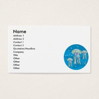 Unterwasserkreisentwurf mit drei Quallen Visitenkarten