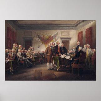 Unterzeichnen der Konstitution Poster