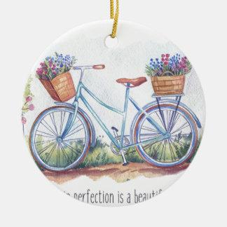 Unvollkommenheit in der Perfektion Rundes Keramik Ornament