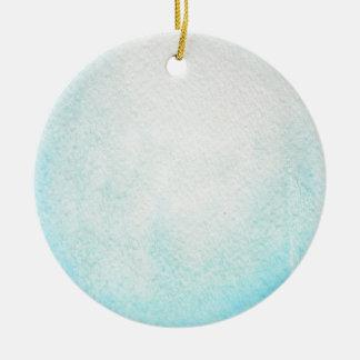Uranus-Planeten-Aquarell-Verzierung Rundes Keramik Ornament