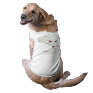 UrbnCape Foxit 3XL Hündchen-Anzug im Weiß Ärmelfreies Hunde-Shirt