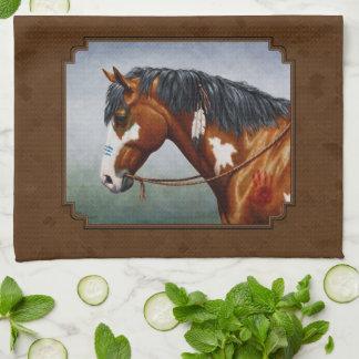 Ureinwohner-Buchtpinto-Pferd Brown Handtücher