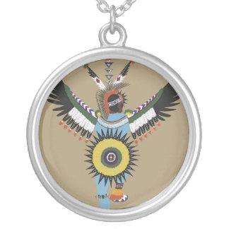 Ureinwohner-Tänzer-Silber-Halskette Versilberte Kette