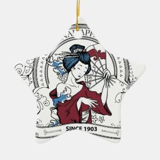 ursprüngliche chinesische Kleidung Keramik Stern-Ornament